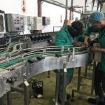 scroll drive and conveyor installation